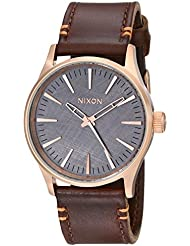 Nixon Mens A3772001 Sentry 38 Leather Watch
