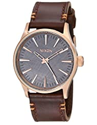 Nixon Men's A3772001 Sentry 38 Leather Watch