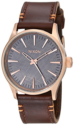 nixon-mens-a3772001-sentry-38-leather-watch