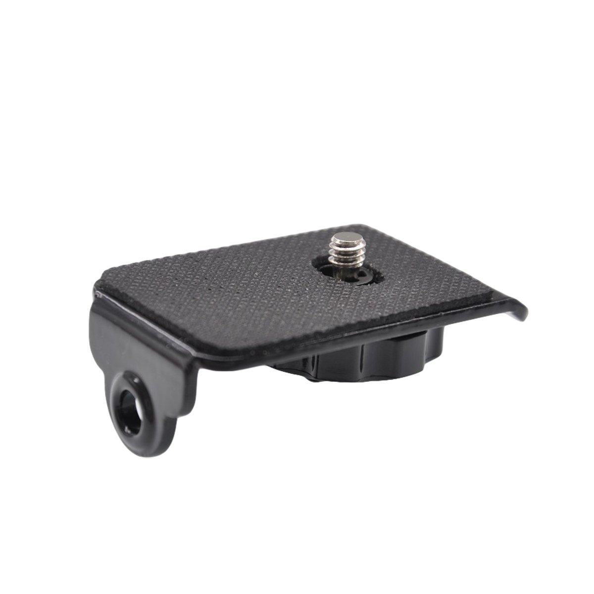 forapid 1ピースユニバーサルクイックリリースメタルマウントプレートとスクリュー三脚マウントすべてのDSLRカメラ迅速な肩首スリングネックストラップベルト(Canon Nikon Sony Olympus Pentax & More) B01K87U9J6