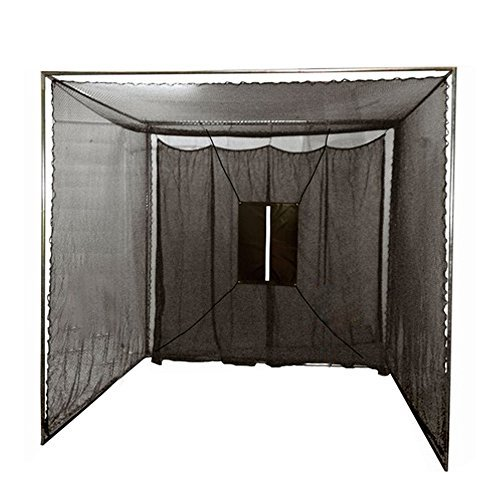 Cimarron Sports Training Aids 10x10x10 Masters Golf Net with Complete Frame (Portable Baseball Batting Cage)