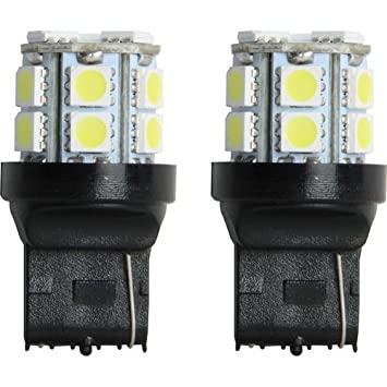 Piloto Automotive il-7440 W-15 2 piezas 15-SMD cola bombilla, color blanco: Amazon.es: Coche y moto
