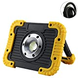 Portable Work Light, 10W USB Rechargeable Emergency Waterproof Wireless Flood Light for Outdoor Hiking Camping(Yellow)