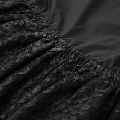 Plisse Belle Rockabilly Bp575 1 Anne Jupe Vintage Bal Le Femme pour Poque Rtro schwarz 50 8r8wRS