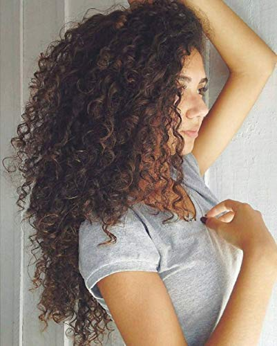 Preferred Hair Synthetic Deep Curly Wig with Natural Babyhair Glueless Long Free Part Lace Front Wig for Women (F1B-30)