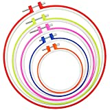 Similane 5 Pieces Embroidery Hoops, Plastic Circle Cross Stitch Hoop Ring 4.5 inch to 10.6 inch (Multicolor)...