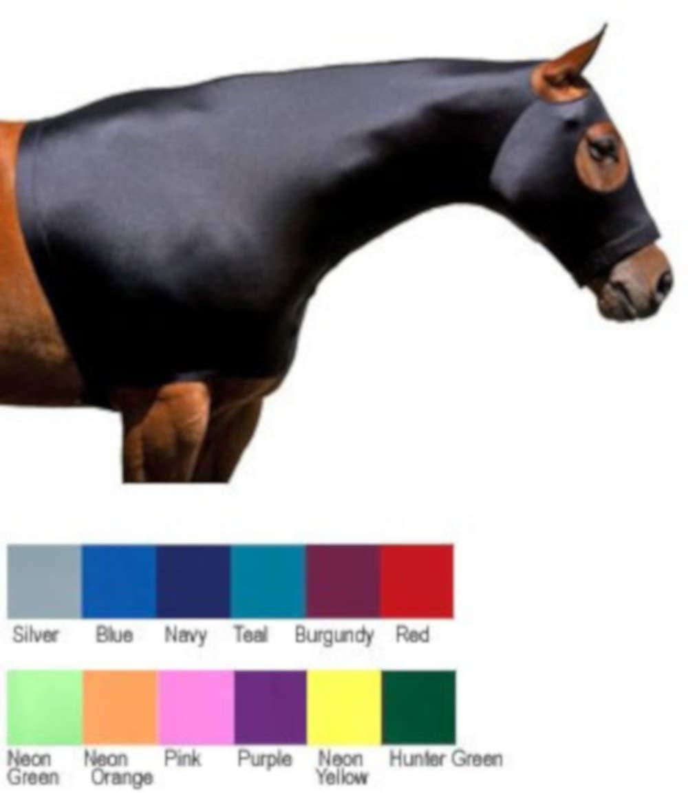 Sleazy Sleepwear for Horses Large Solid Zipper Stretch Hood- Burgandy