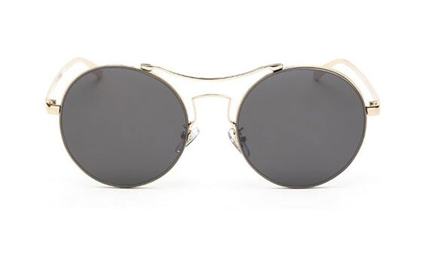GAMT Prince Personality Reflective Mirror Metal Round Frame Sunglasses UV400