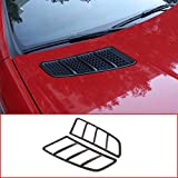 CHEYA ABS Chrome Engine Roof Hood Sticker Trim for Mercedes Benz SLK 200 2011 2012 2013 2014 2015 (Carbon Fiber)