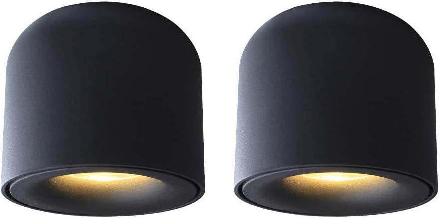 BENPAO Luces LED para mampara Foco de Techo, luz de Techo montada 7W 3000K Foco de Aluminio Negro Blanco cálido para Pasillo Pasillo Galería Galería Cocina y Sala de Estar: Amazon.es: Hogar