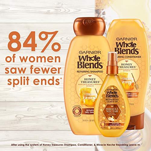 Garnier Hair Care Whole Blends Honey Treasures Repairing Shampoo, Conditioner, and Hair Mask, For Damaged Hair, 1 Kit