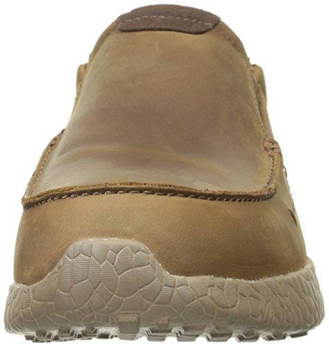 Men's Burst Loafer On Brown Slip Skechers Valid USA E5w6YWqf