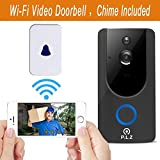 WiFi Wireless Video Doorbell Smart Door Bell 720P HD WiFi Security Camera with 8G Memory Storage and Chime, Two-Way Talk and Real-Time Video, Voice Wave Connection, Wide Dynamic Range (8)