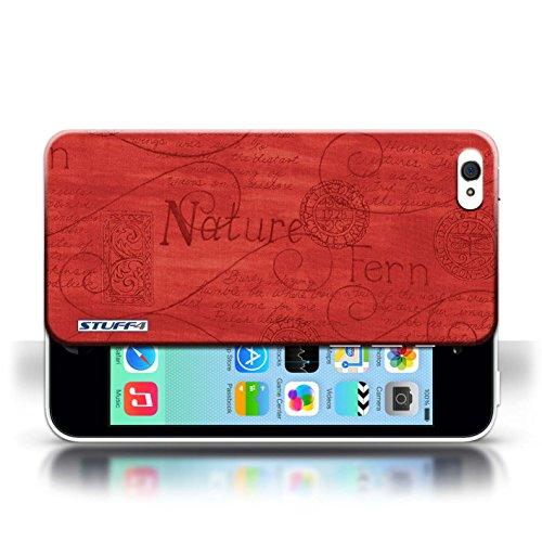 Etui / Coque pour Apple iPhone 5C / Rouge conception / Collection de Motif Nature
