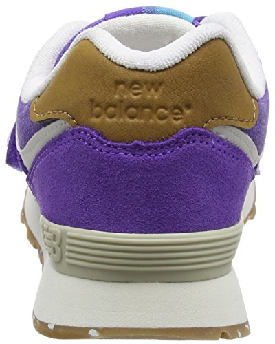 New Balance 574 Hook and Loop, Zapatillas Unisex Niños Morado (Purple)
