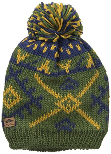 Coal Men's The Purcell Fully Fleece Lined Beanie Hat Pom, Olive, One Size