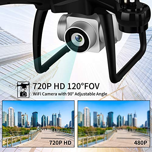 JJRC H68G GPS Return Home Drone Drone with 720P HD Camera Live Video 120° Wide-Angle 5G WiFi RC Drone Quadcopter with 980ft Control Distances, Follow Me, Altitude Hold Headless Mode Helicopter (Black) by JJRC (Image #2)