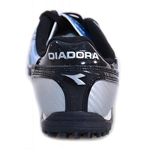 Diadora - Diadora Solano TF JR Hallenfußballschuhe Kinder Himmelblau Leder 156011-01 - Blau, 38,5