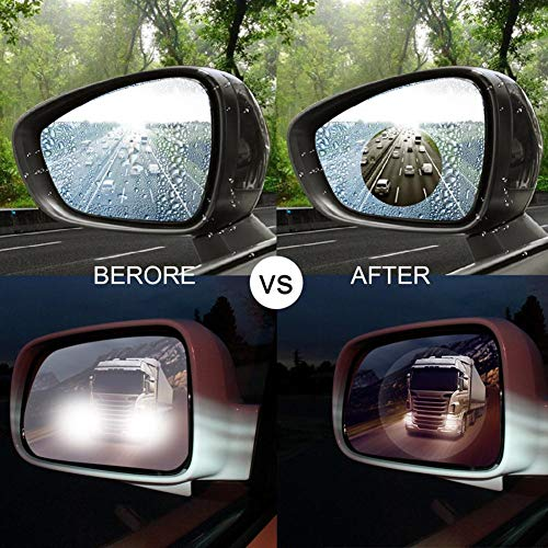 Rainproof Anti Fog Film For Car Rear View Mirror 2pcs Anti Glare