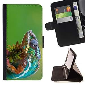 Momo Phone Case / Flip Funda de Cuero Case Cover - El Camaleón! 2 - LG G4c Curve H522Y (G4 MINI), NOT FOR LG G4