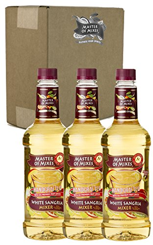 Master of Mixes White Sangria Drink Mix, Ready To Use, 1 Liter Bottle (33.8 Fl Oz), Pack of 3 ()