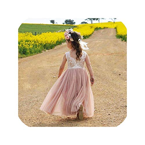 Gooding Day Summer Dress Backless Teenage Party Princess Dress Children Costume for Kids Clothes,Pink 1,5]()