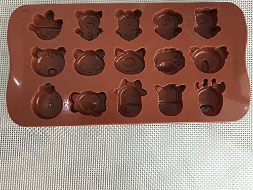 Torta molde herramienta-fondant torta molde cortador-silicona Sugarcraft molde pastel decoración animal Hemore