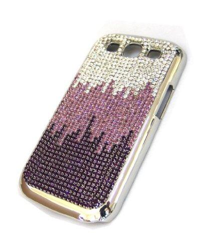 Swarovski Crystal Diamond Bling Gradient Wave Design Case Cover for Samsung Galaxy S3S