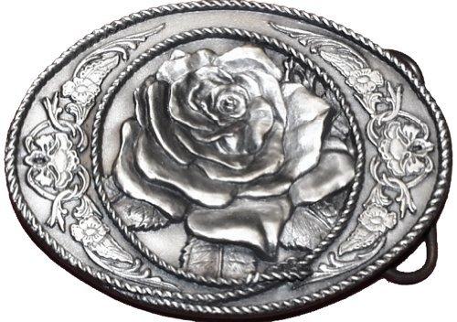 Belt Buckle - Western Rose - Belt Buckle