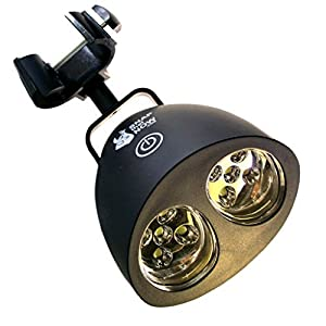 BEST BBQ GRILL LIGHT - BLACK, BAR METAL CLAMP, 10 LED LIGHTS with TOUCH-SENSITIVE SWITCH - GRILLING ACCESSORIES for the GAZEBO, CHAR BROIL, KENMORE, KAMADO, NAPOLEON, TRAEGER & WEBER