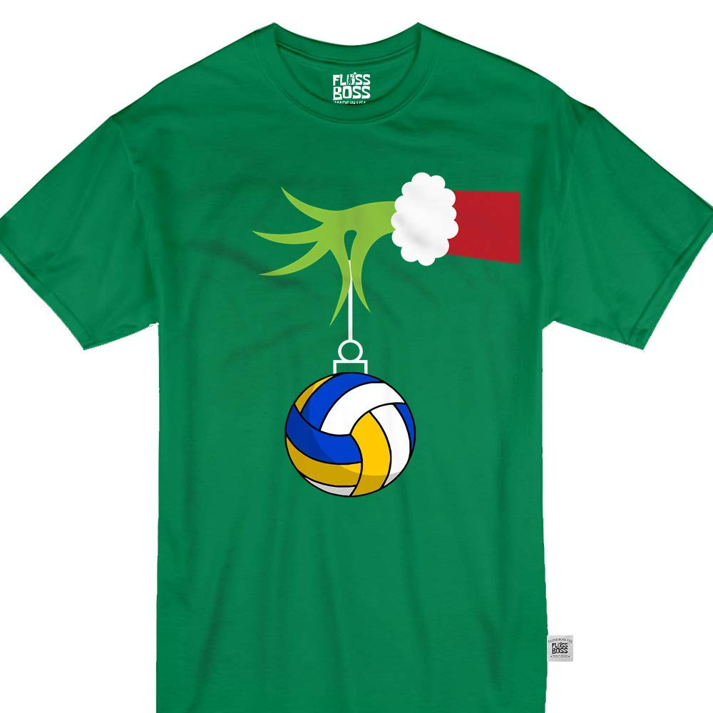 Green Monster Hand Holding Volleyball Sport Funny Christmas 9889 Shirts