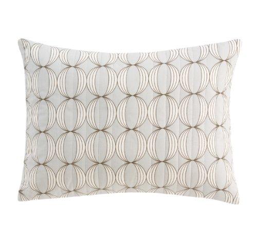 Dwellstudio Organic Boudoir Pillow, Ovals Grey Discontinued by Manufacturer