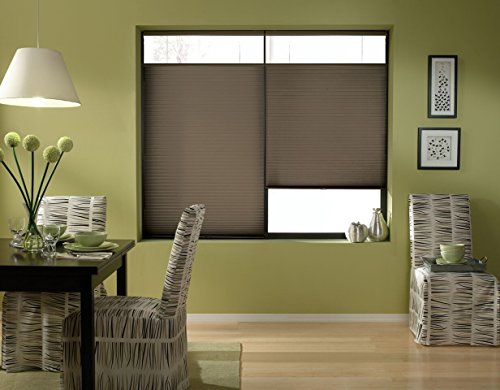 Windowsandgarden Cordless Top Down Bottom Up Cellular Honeycomb Shades, 23W x 36H, Espresso, Any Size 19-72 Wide