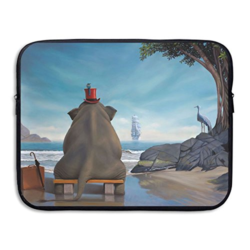 Price comparison product image Fashion Laptop Sleeve Case Elephant Sit On Bench Computer Storage Bag Portable Protective Bag Briefcase Sleeve Bags Cover MacBook / Ultrabook / Notebook / Laptop