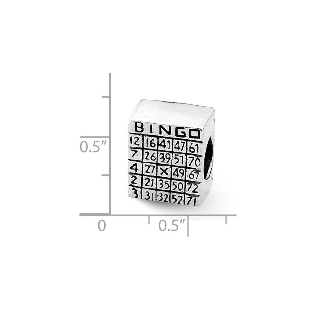 Sterling Silver Reflections Bingo Card Bead