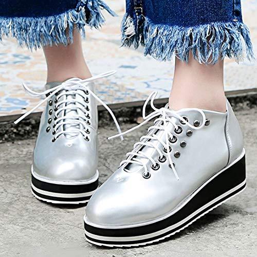 Sneaker Up argento Zanpa 1 Lace Scarpe Flatform Casual Donne wxqAxHfT