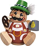 Seiffener Volkskunst German incense smoker Bavarian, height 12 cm / 5 inch, original Erzgebirge by SV 19001