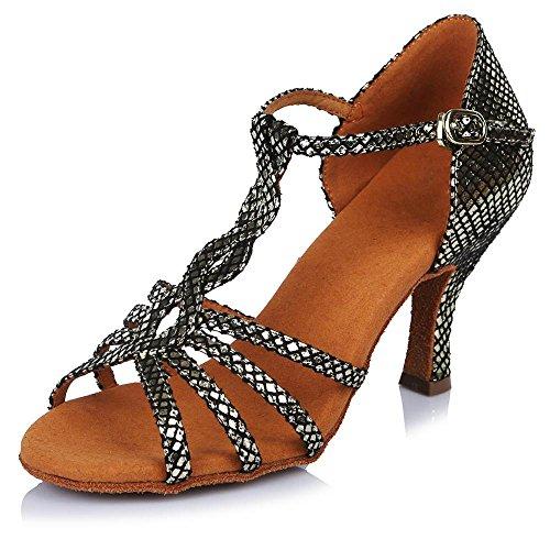 La de de Tango latine fille danse Gray Bal Mesdames la Parti femme YFF Chaussures 65mm RzS4qwdR
