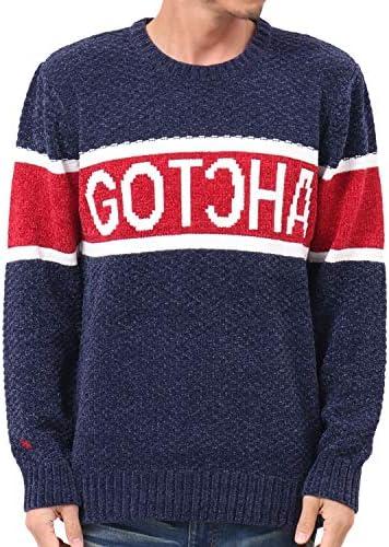 セーター パネル ロゴ 配色 クルーネック ニット 193G1400