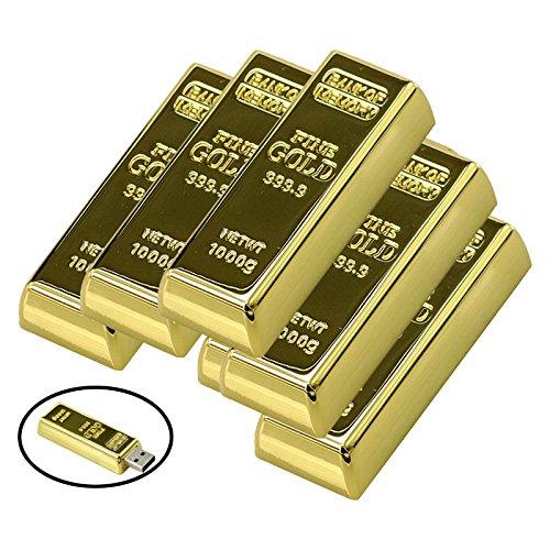 Civetman 32GB USB 2.0 Flash Drive Metal Bullion Gold Bar Shape Pendrive Memorias USB Memory Stick