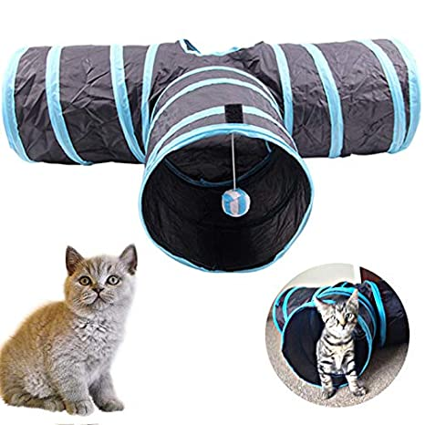Cat Toys - Katten Tunnel Foldable Y Shape 3 Holes Gatos Pet Play Cat Toy Rabbit