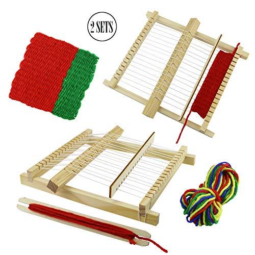 BcPowr Craft Loop 'N Loom Potholder Loom Kit Large Hardwood Lap Loom ()