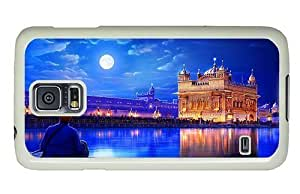 Hipster thinnest Samsung Galaxy S5 Cases golden temple india PC White for Samsung S5