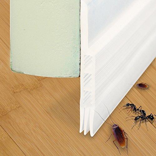 Door Sweep, Door Bottom Seal Weather Stripping for Under Door Draft Stopper 2' Width X 36' Length (Transparent)