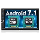 PUMPKIN Android Auto Android 7.1 Car Stereo Double Din with GPS and WiFi, Bluetooth, Support Fastboot, Backup Camera, Touch Screen, MirrorLink, USB/ SD, OBD2, AUX