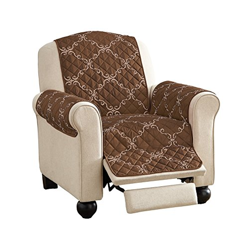Reversible Furniture Chocolate Recliner Scrollwork