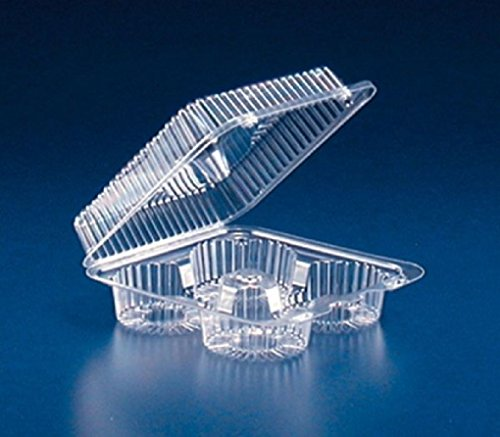 4-Cup Compartment Clear Plastic Large Muffin Cupcake Bakery Container REF#SLP72D by Osislon Series