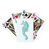 Hippocampus Marine Life Blue Pattern Poker Playing Card Tabletop Board Game Gift