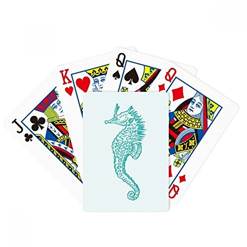 Hippocampus Marine Life Blue Pattern Poker Playing Card Tabletop Board Game Gift by beatChong