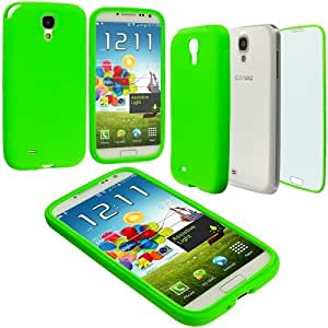 Accessory Planet(TM) Neon Green + Protector TPU Rubber Skin Case Cover Accessory for Samsung Galaxy S4 by heywan